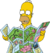 Homer Looking at Map (Artwork)