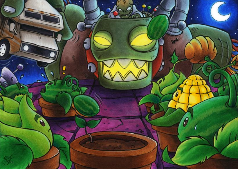 Plants vs zombies dr zomboss by merinid de d3cw5lj