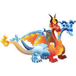 Dragons Fire and Ice Dragons