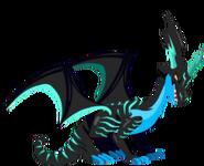 Neon dragão 3d