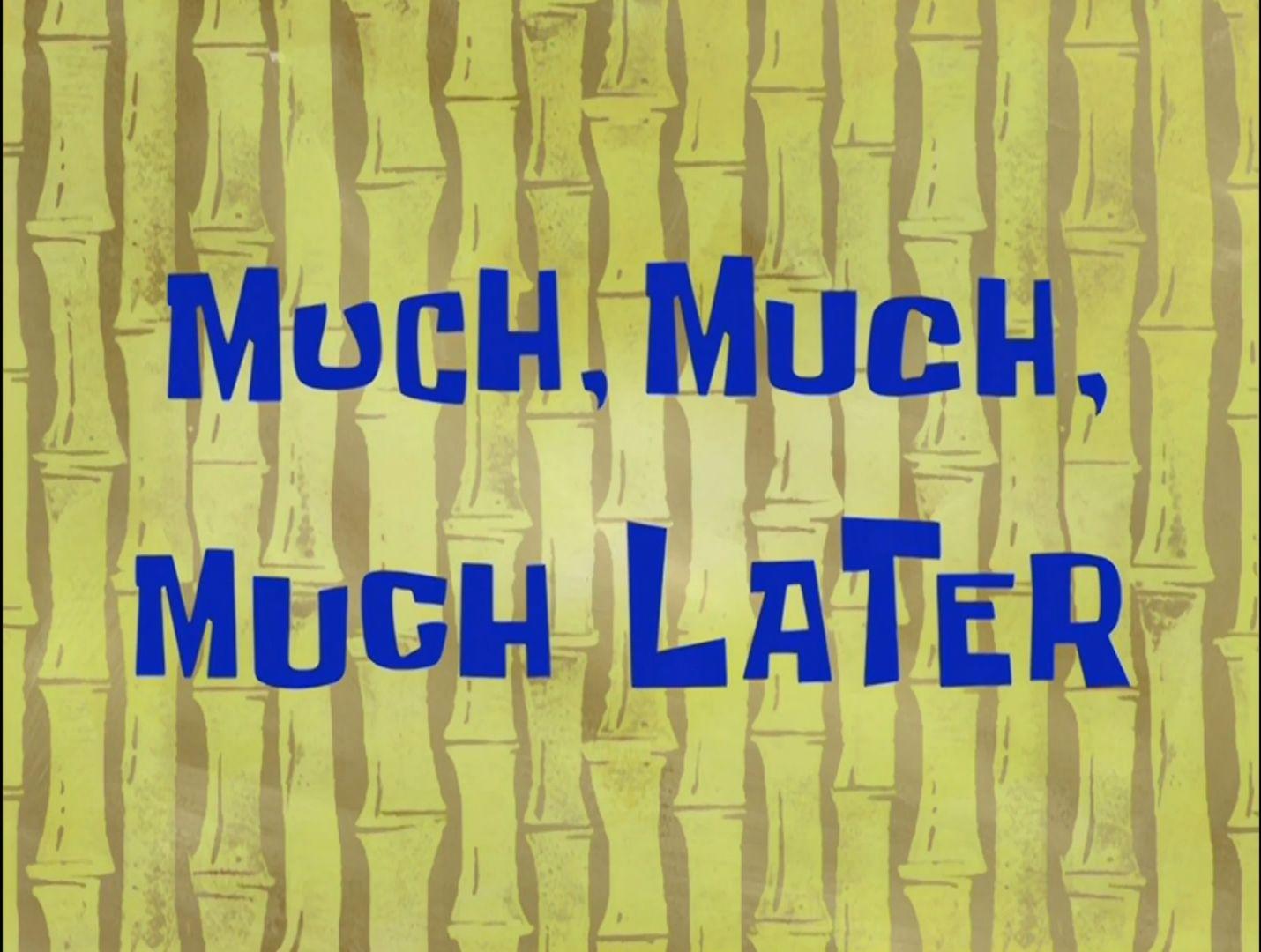Spongebob Eternity Later Klippdesign