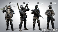 Battlefield 4 Chinese Character Models