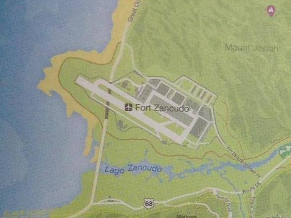 Где находиться военная база на карте в гта 5