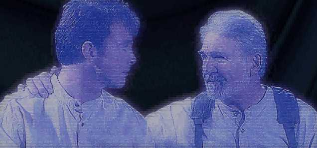 O jovem Katarn escuta os conselhos de seu pai.