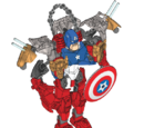 Captain America and Iron Man Combiner Model