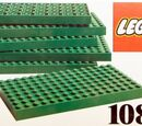 1087 6 LEGO Baseplates 8 x 16 Green