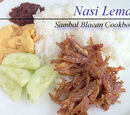 Nasi Lemak with Sambal Ikan Bilis