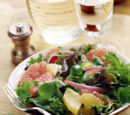 Baby Greens with Grapefruit and Red Onion