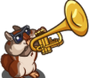 Trumpet Player Chipmunk