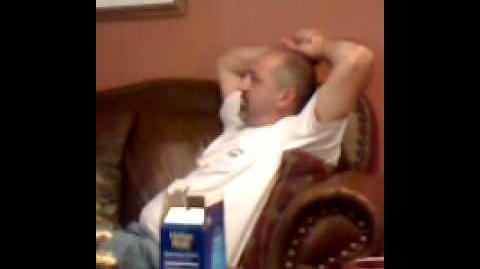 My dads reaction to the season finale of lost.