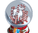 Candy Cane Unicorn Snow Globe