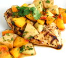 Lime Chicken with Honeydew Peach Salsa