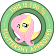 110px-Fluttershy_approved.png