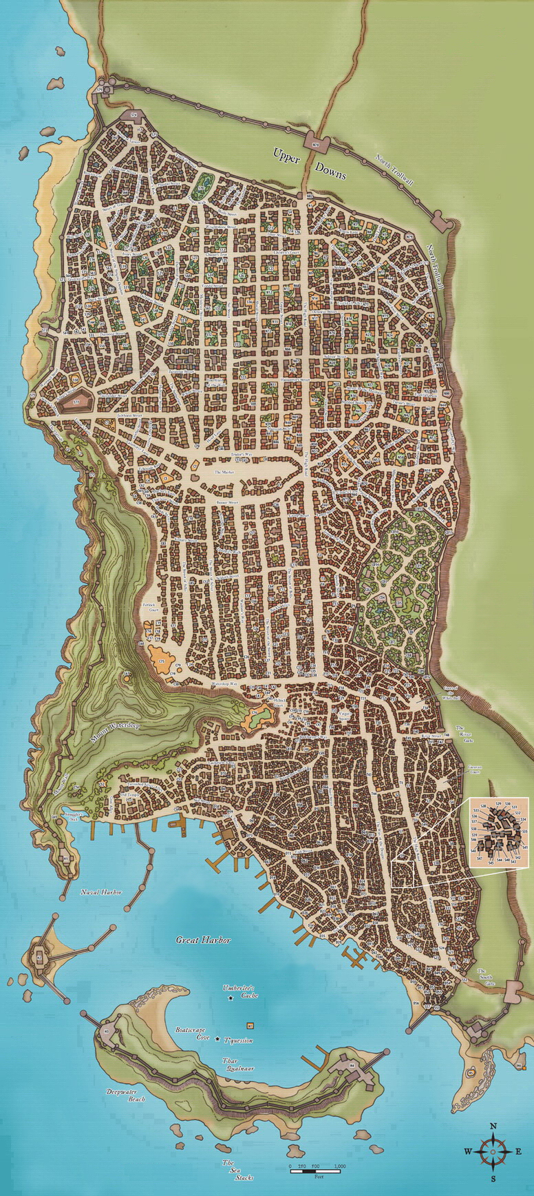 RPG Resources of the Day: 101 Fantasy City, Town and Village Maps