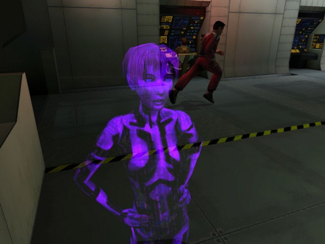 cortana from the original Halo CE game