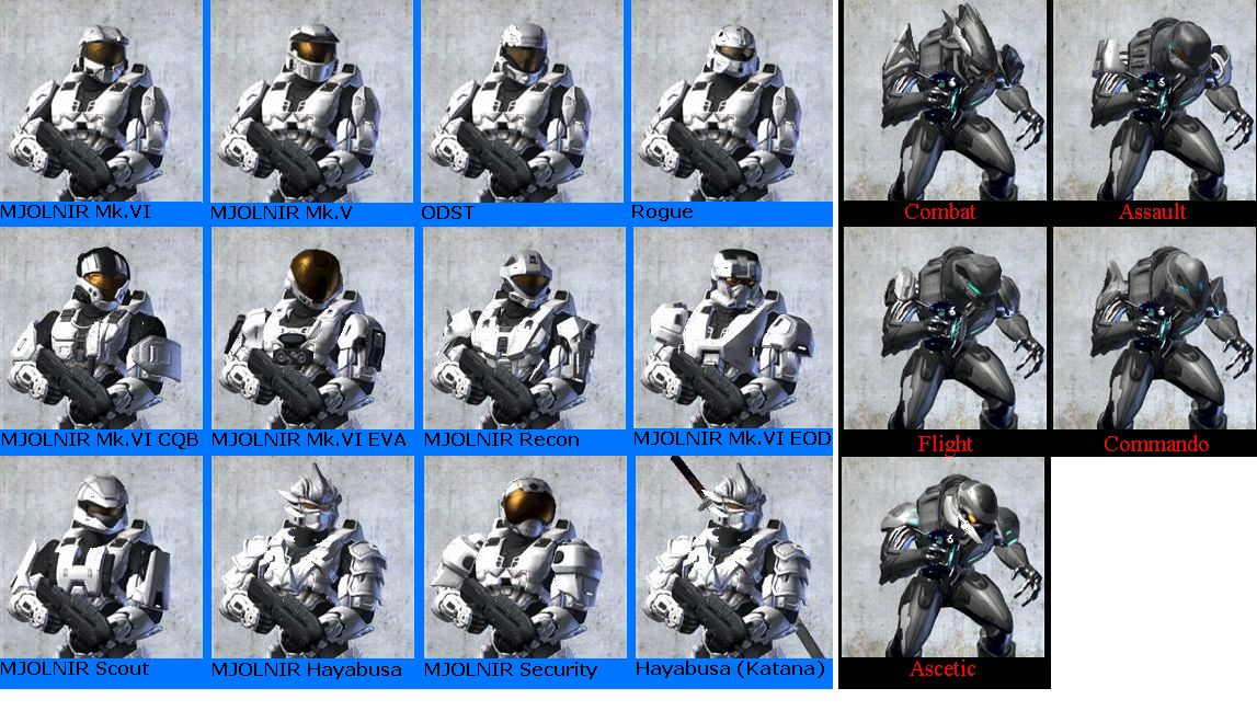 Dang, there are some cool looking Armors  - Halo 3 Message