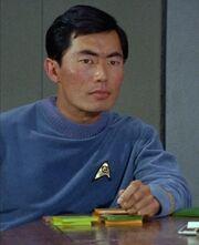 George Takei as Lieutenant Hikaru Sulu in Star Trek The Original Series (TOS)