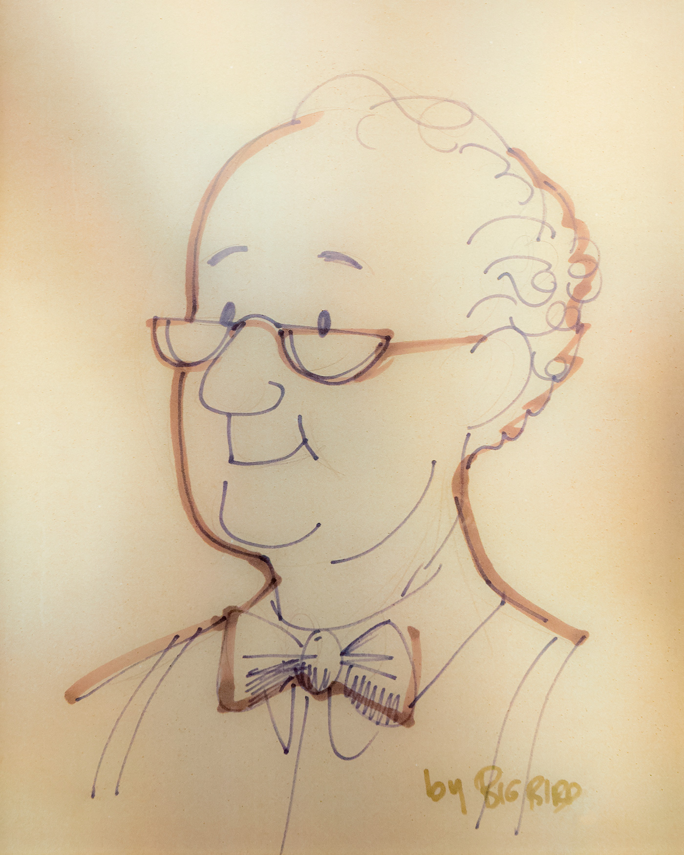 Portrait of Mr. Hooper, early Sesame Street character.