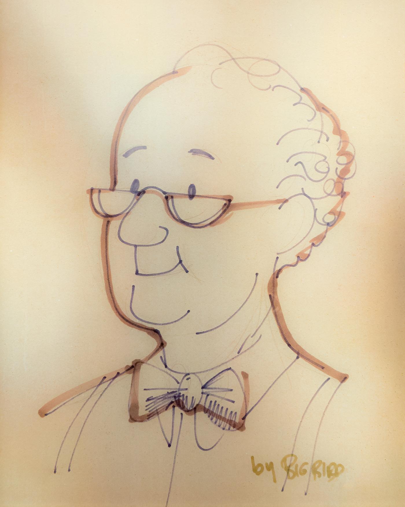 Portrait of Mr. Hooper, early Sesame Street character.