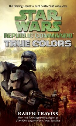 The cover of Karens third RC novel, True Colors.