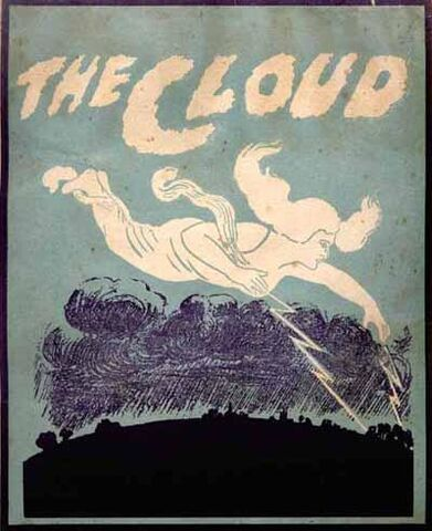 The Cloud by Percy Bysshe Shelley, published in Australia c. 1915, cover illustration possibly by Phil Blake