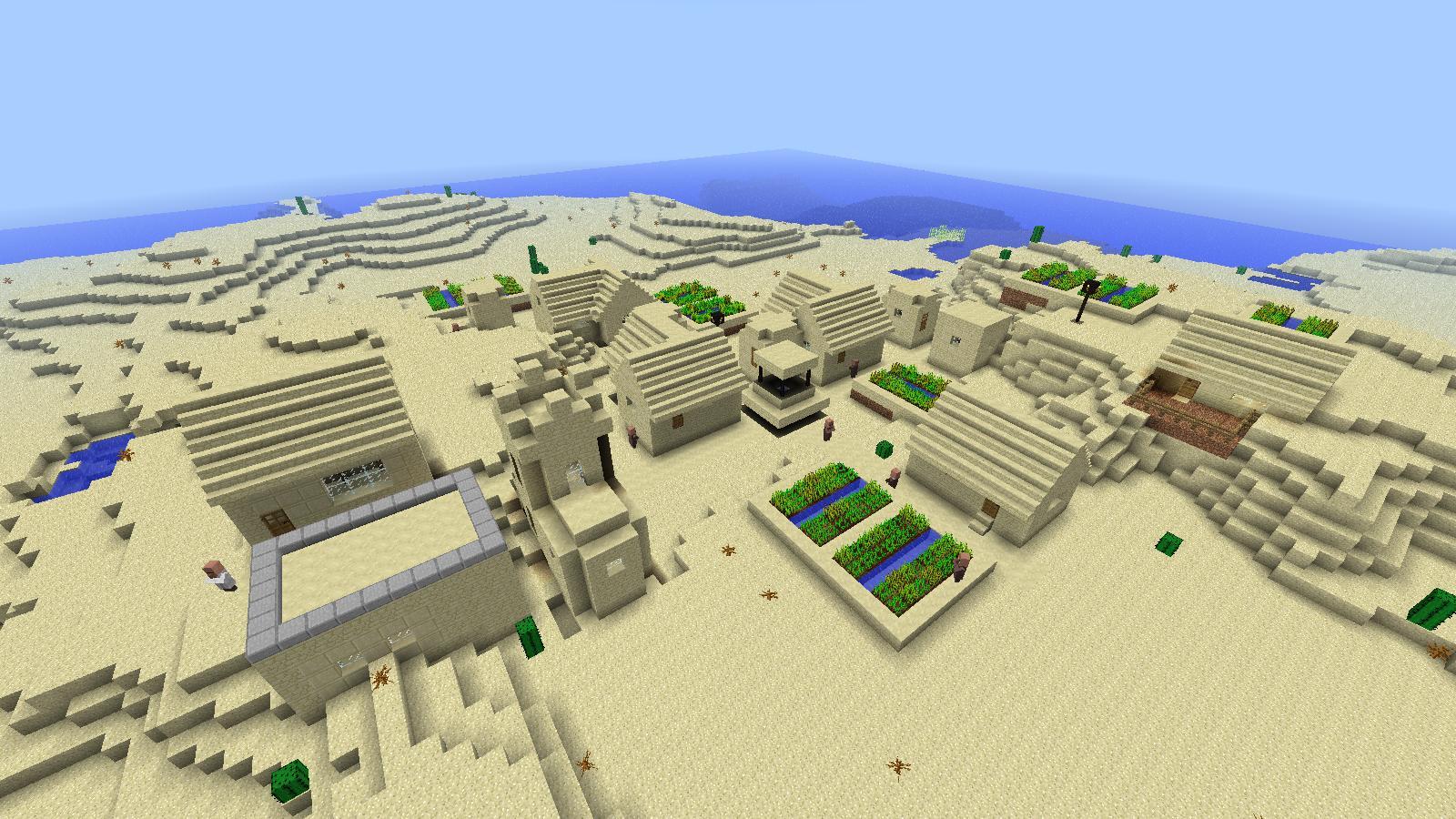 как построить деревню в пустыне в майнкрафте #8