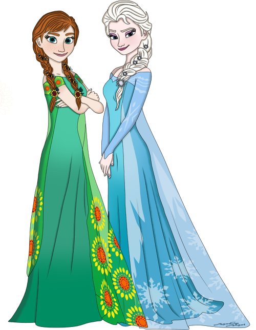 Princess_Anna_and_Queen_Elsa_by_AgnessAngel.png